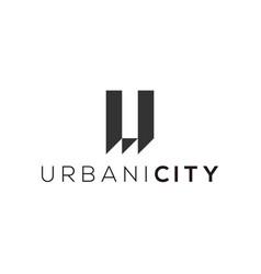Urban city logo design modern icon vector