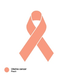 uterine cancer ribbon vector image