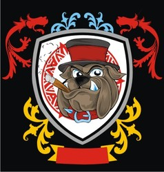 Vintage bulldog head vector