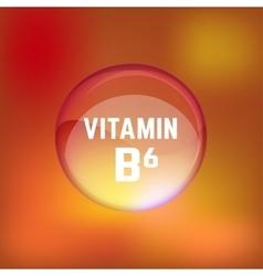 Vitamin B6 02 B vector
