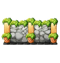 Wall made of brick stones vector