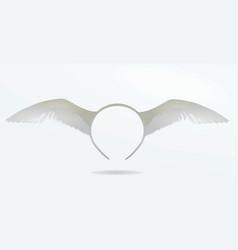 White bird wings headband mask vector