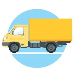 Yellow truck vector