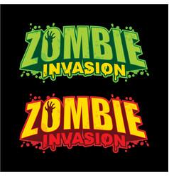 zombie invasion logo design vector image