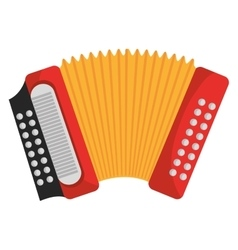 Accordion music instrument Colorful icon design vector image