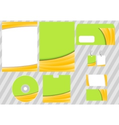 business corporate design template vector image