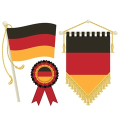 germany flags vector image vector image