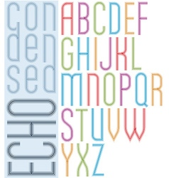 Poster echo light striped font bright transparent vector image