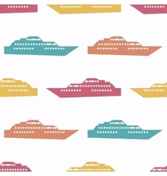 Ship seamless pattern vector image