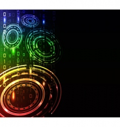 abstract glow background vector image vector image