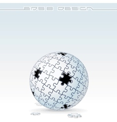 Jigsaw Puzzle Globe Conceptual Image vector image