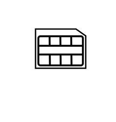 nano sim card icon vector image