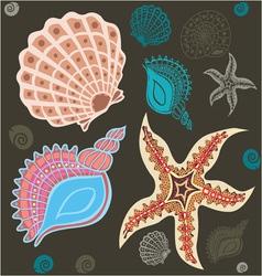 sea paradise set2 vector image vector image