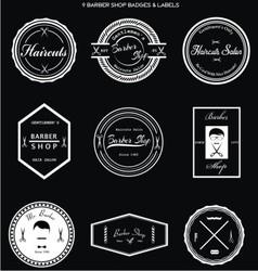 Barber Shop Badges Labels vector image