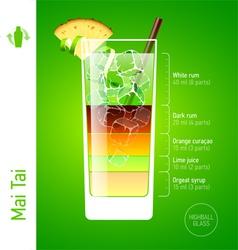 Mai Tai cocktail vector image vector image