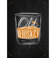 poster old whiskey color vector image vector image