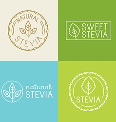 set of labels badges and design elements for food vector image vector image