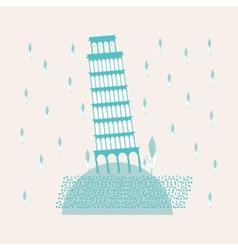 Tower of Pisa Sweetheart vector image vector image