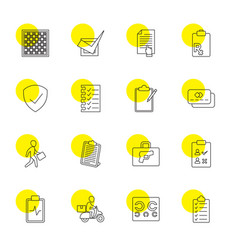16 check icons vector image
