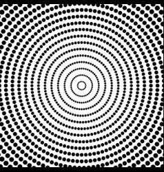Abstract dots circular radiating dotted pattern vector