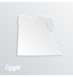 Abstract icon map of Egypt on a gray background vector