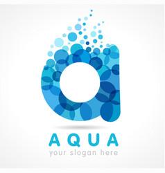 Aqua a logo concept vector