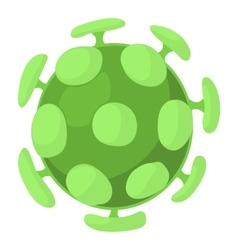 Bacterial cell icon cartoon style vector