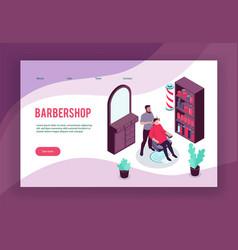 barbershop concept banner vector image