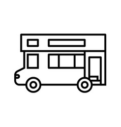 big bus line icon concept sign outline vector image