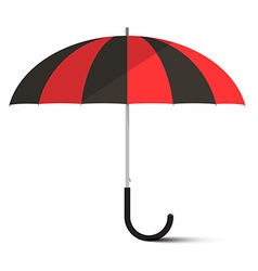 Black and Red Umbrella - Parasol Isolated on vector image
