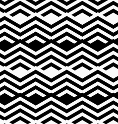 Black and white striped hexagons in row vector image