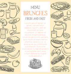 breakfast page template vector image