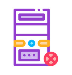 broken computer icon outline vector image