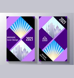 broshure cover design vector image