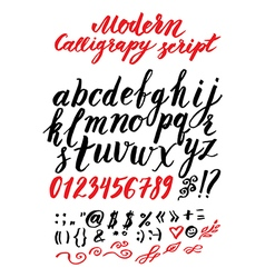 Calligraphy alphabet 3 vector