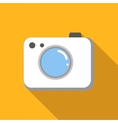 Camera colored flat icon vector image
