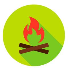 campfire circle icon vector image