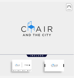 chair city logo design icon icon isolated vector image