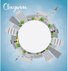 Cheyenne Wyoming Skyline vector image