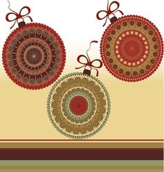 Christmas - greeting card vector image vector image