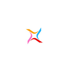 circle shape colorful business logo vector image