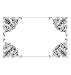 classic vintage baroque ornament vector image