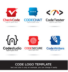 Code logo template vector