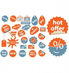 cute shopping stickers vector image