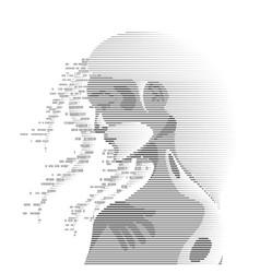 digital girl vector image