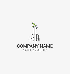 digital root logo design vector image