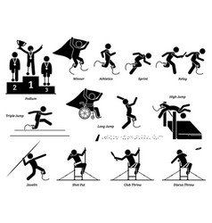 disabled field and track sports games vector image