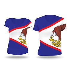 Flag shirt design of American Samoa vector