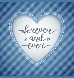 Forever and ever vector