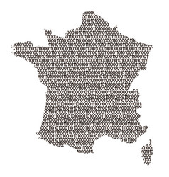 France map abstract schematic from black ones and vector